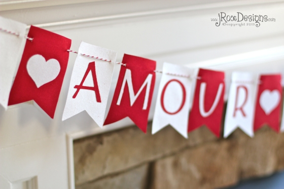 Valentine's Day Garland by jRoxDesigns